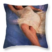 Girl In The Pool 6 Throw Pillow