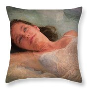 Girl In The Pool 8 Throw Pillow