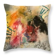 Girl In Time Throw Pillow