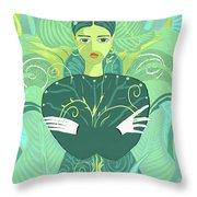 Girl Planted Throw Pillow