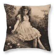 Girl Portrait Throw Pillow