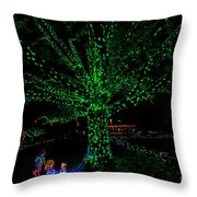 Girl Reaches For Apple 0861t Throw Pillow