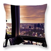Girl With A View Throw Pillow