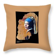 Girl With Capicitor Throw Pillow