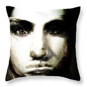 Girl With No Name Throw Pillow