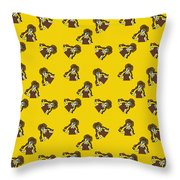 Girl With Popsicle Yellow Throw Pillow