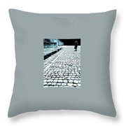 Girl With The Naked Feet Throw Pillow