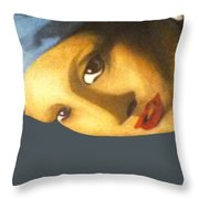 Girl With The Pearl Earring Side Throw Pillow
