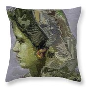 Girl With Yellow Earring Gwye2 Throw Pillow
