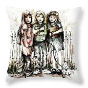 Girlfriends Throw Pillow