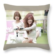 Girl's Day Throw Pillow