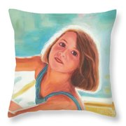 Girl's Portrait Throw Pillow