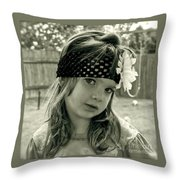 Girls Rule Throw Pillow