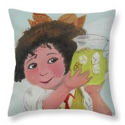 Girls With Lemonade Throw Pillow