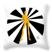 Girls. Yellow. I Throw Pillow