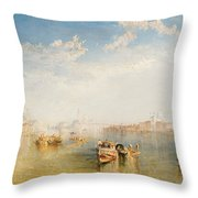 Giudecca La Donna Della Salute And San Giorgio  Throw Pillow by Joseph Mallord William Turner