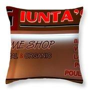 Giunta's Prime Meat Throw Pillow