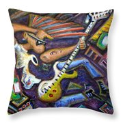 Give Em The Boot - Punk Rock Cubism Throw Pillow by Jason Gluskin
