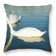 Give Me A Little Kiss Hun Throw Pillow