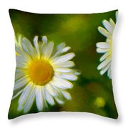 Give Me Daisy In Color Throw Pillow