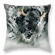 Give Thanks Colorado Watercolor Throw Pillow