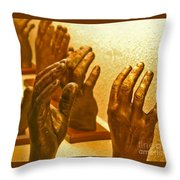 Give Them A Hand Throw Pillow