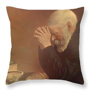 Give Us This Day Throw Pillow