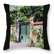 Giverny Gate Throw Pillow