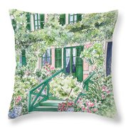 Giverny Welcome Throw Pillow