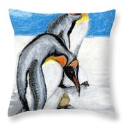 Giving Birth Throw Pillow