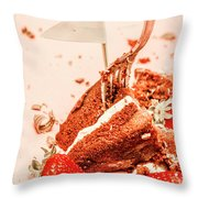 Giving In Throw Pillow