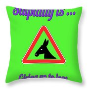 Giving Up Bigstock Donkey 171252860 Throw Pillow