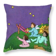 Giving Wishes Wings Throw Pillow by Sarah Batalka