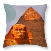 Giza Sphinx 2 Throw Pillow