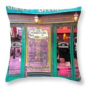 Glaces And Sorbets Berthillon Throw Pillow