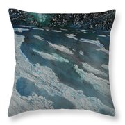Glacial Moraine Throw Pillow