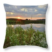 Glacial Park Sunrise On The Nippersink Throw Pillow