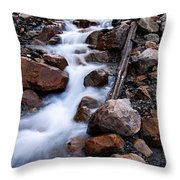 Glacial Stream Throw Pillow