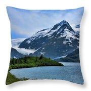 Glacier Alaska Lake  Throw Pillow