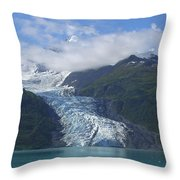 Glacier Bay Afternoon Throw Pillow