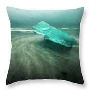 Glacier Beach Throw Pillow