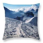 Glacier Blanche  Throw Pillow