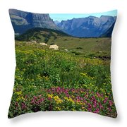 Glacier Blooms Throw Pillow