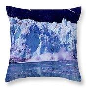 Glacier - Calving - Reflection Throw Pillow
