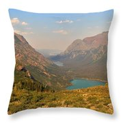 Glacier Chain Of Lakes Throw Pillow