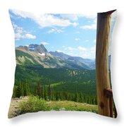 Glacier Chalet View Throw Pillow