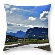 Glacier Country Park Throw Pillow