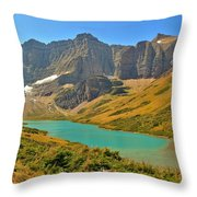 Glacier Cracker Lake Panorama Throw Pillow