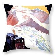 Glacier De Bionnassay, Railway, France Throw Pillow