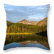 Glacier - Fishercap - Reflection Throw Pillow
